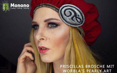 Priscillas Brosche (The Witcher 3) mit Worbla's Pearly Art